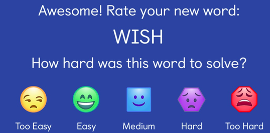 Children are asked to rate their own progress HangArt: Play Hangman, Draw Pictures, Tell Stories